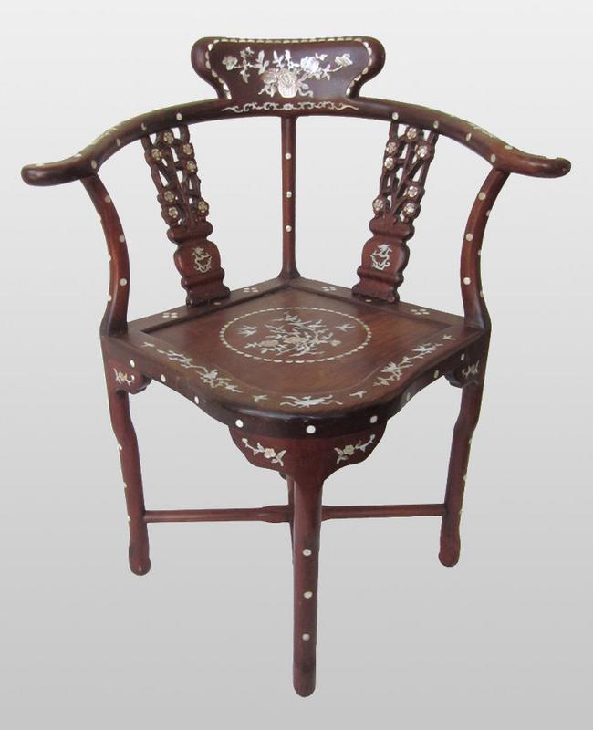 Chinese Antique Hardwood Corner Chair