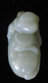 Republic Period Chinese Jade Carved Monkeys