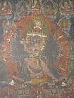 Yamantaka Protective Deity Tibetan Thankga