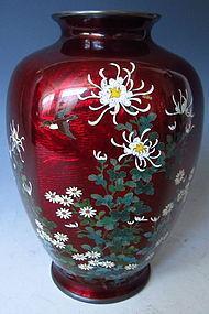 Japanese Cloisonne Vase signed Hayashi
