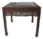 Antique Chinese Marble Inlaid Table