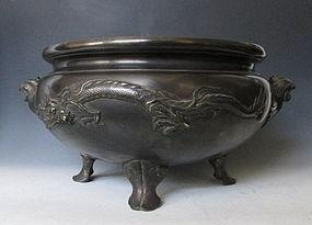 Antique Japanese Bronze Hibachi