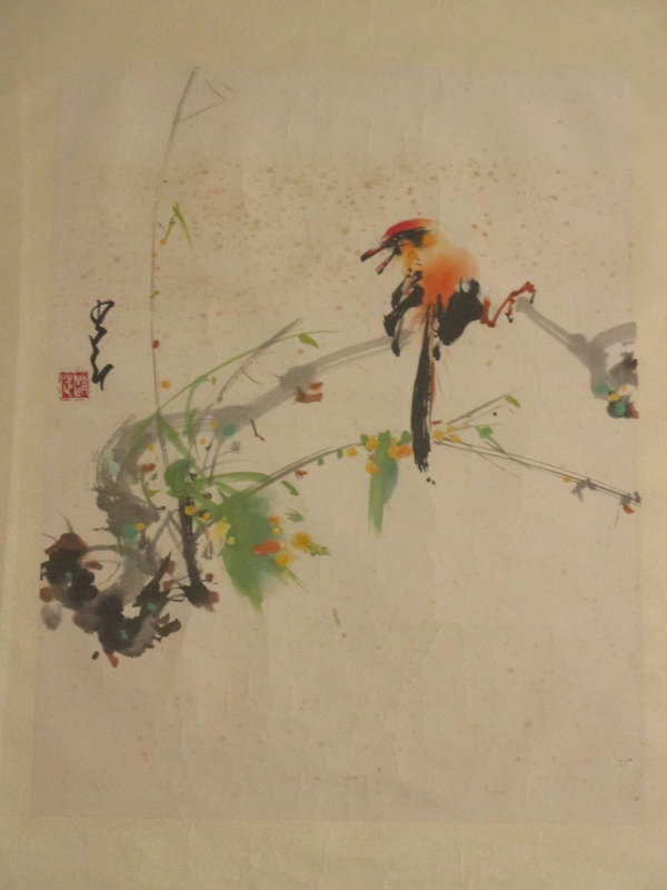 Chinese Painting of Bird Signed Zhao Shaoang