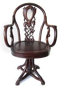 Chinese Hardwood Republic Period Swivel Chair