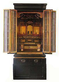 Japanese Antique Lacquer Butsudan