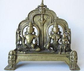 Antique Indian Brass Hindu Deity Statue