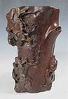 Antique Chinese Steatite Brush Holder