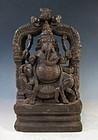 Burmese Wooden Carving of Ganesha