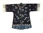 Antique Chinese Silk Robe With Crashing Waves