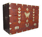 Korean Antique Head Side Chest with Butterflies