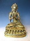 Antique Sino Tibetan Bronze Statue of Tara