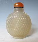 Antique Chinese Carved Quartz Snuff Bottle