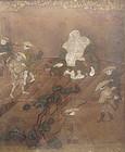 Antique Japanese Painting of Hotei/Budai