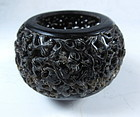 Chinese Carved Articulated Shell Container