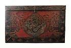 Antique Tibetan Chest with Dragon