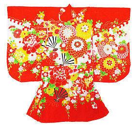 Japanese Child's Kimono with Flowers