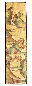 Antique Chinese Silk Kesi Panel