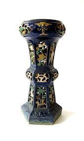 Chinese Blue Garden Plant Stand