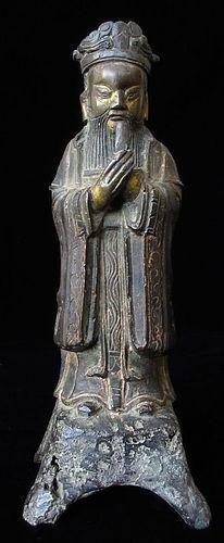 Chinese Ming Dynasty Bronze Daoist Figure