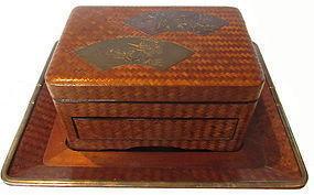 Antique Japanese Lacquer Cigarette Box
