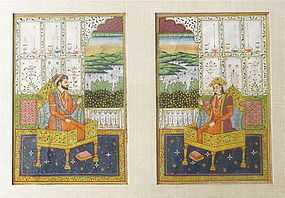 Antique Indian Painting of Royal Couple