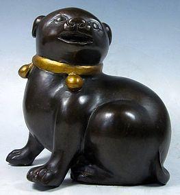 Antique Japanese Bronze Dog
