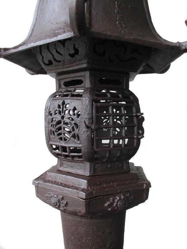 Stunning Large Japanese Pair of Antique Iron Lanterns