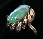 Chinese Jadeite and 14K Gold Ring