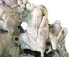 Very Large Chinese Jade Carving of 8 Immortals on Dragon