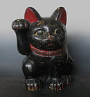 Large Antique Japanese Maneki neko
