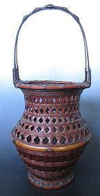 Japanese Taisho Period Ikebana Basket