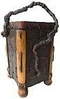 Antique Japanese Ikebana Basket