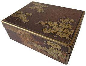 Antique Japanese Gold Lacquer Incense Box