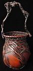 Antique Japanese Woven Ikebana Basket