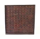 Antique Japanese Herb Drawer Tansu