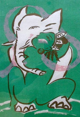 Mayumi Oda Original Print, Meet the Lord of Obstacle II