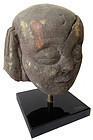 Ming Dynasty Chinese Buddha's Attendant Stone Head