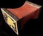 Unusual Antique Japanese Gilt Lacquer Pillow