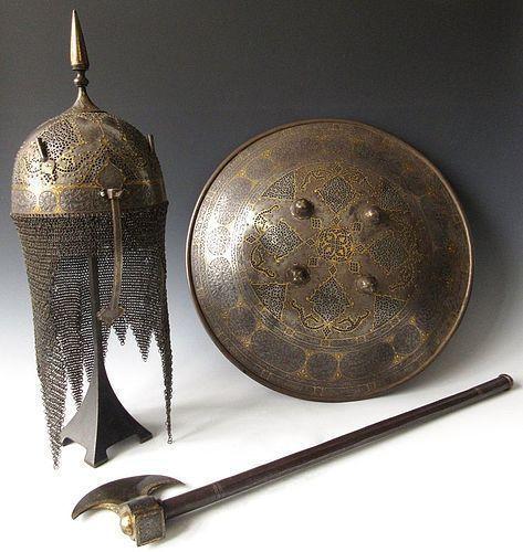 18th Century Damascene Persian Armor Collection