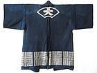 Antique Japanese Indigo Coat with Fan Design