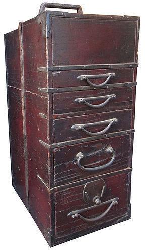 Original Antique Japanese Gyosho Bako