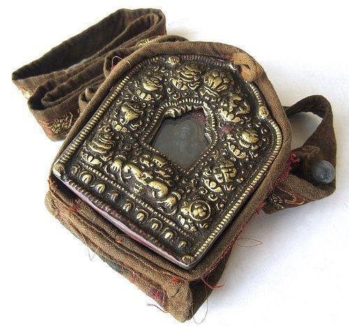 Antique Tibetan Gau Portable Shrine