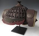 Japanese Edo Period Fireman's Helmet