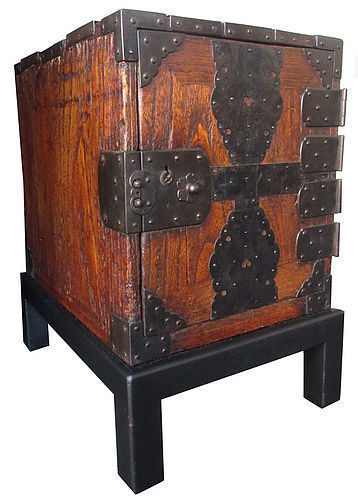 Antique Japanese Funa Tansu w/ Stand