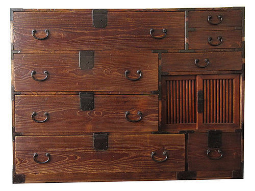 Antique Japanese Unusual Clothing Tansu