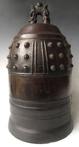 Antique Japanese Large Bronze Temple Bell