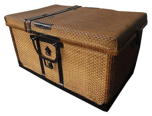 Antique Japanese Woven Traveling Basket