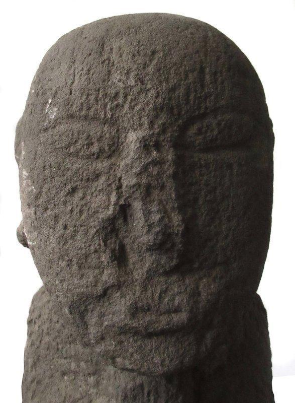Antique Korean Pair of Stone Guardian Statues