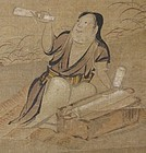 Japanese Momoyama Scroll Painting of a Woman