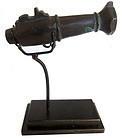 Antique Japanese Hiya Tantsusu Flared Muzzle Bronze Cannon